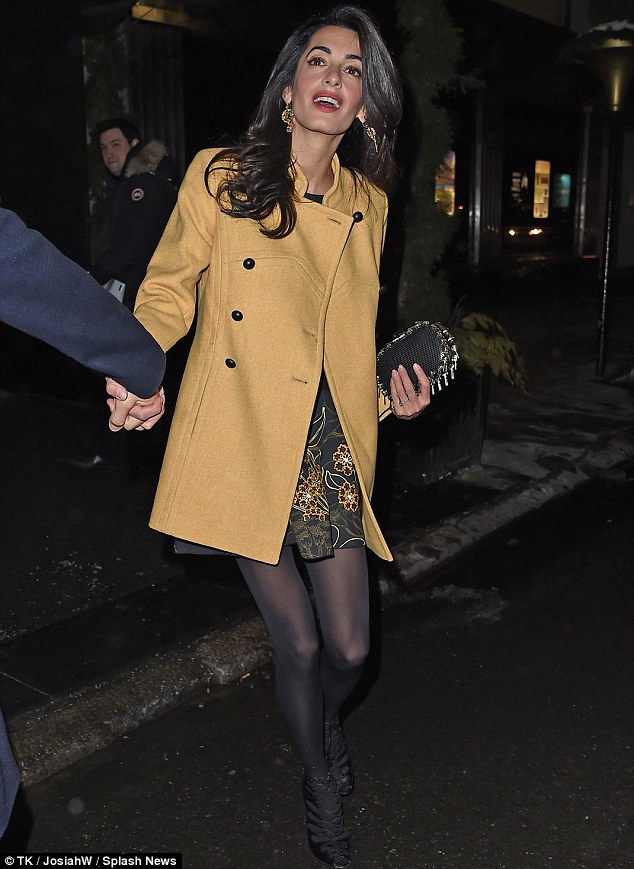 George Clooney and Amal out for dinner on the Upper East Side at Kappo Masa 266DB4F700000578-0-image-m-86_1425783818490