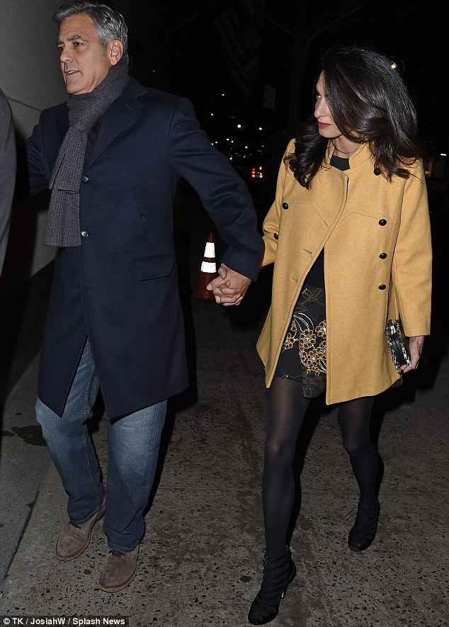 George Clooney and Amal out for dinner on the Upper East Side at Kappo Masa 266DB4FB00000578-0-image-m-97_1425784099540