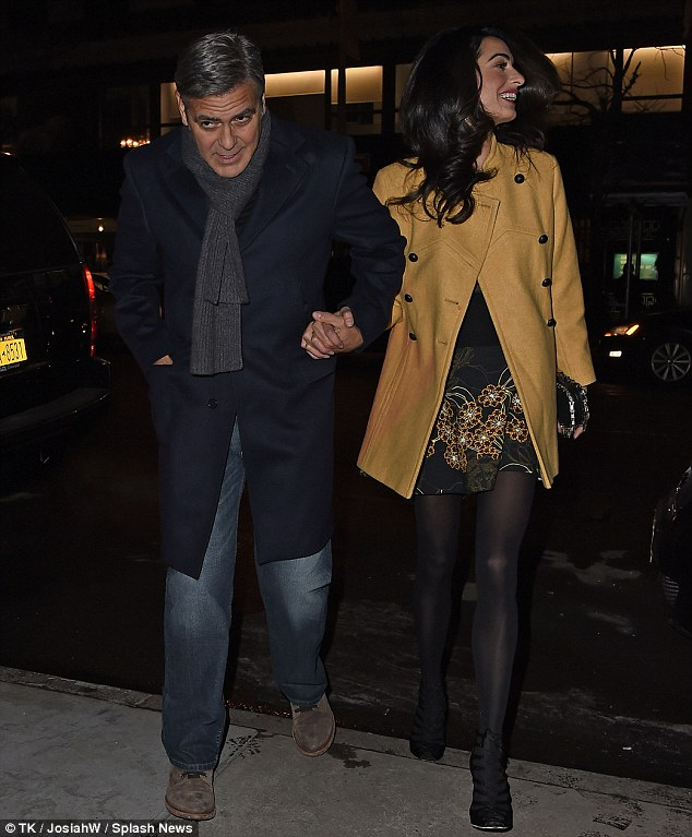George Clooney and Amal out for dinner on the Upper East Side at Kappo Masa 266DB4FF00000578-0-image-m-78_1425783662074