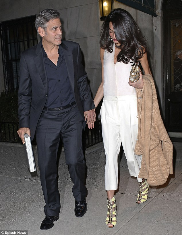 George Clooney & Amal seen in New York City on March 27 2710DBEF00000578-3015690-image-m-1_1427525221589