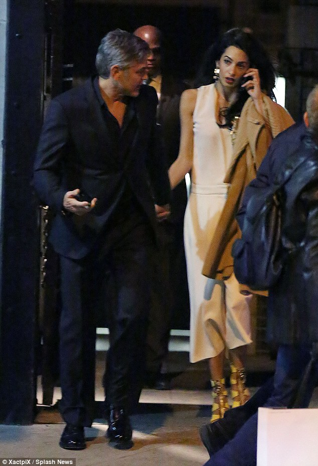 George Clooney & Amal seen in New York City on March 27 2710DEE800000578-3015690-image-a-9_1427525195818