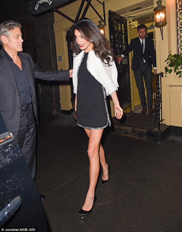 George Clooney and Amal having dinner in NY on 3 April 2015 27464AC300000578-3025329-image-a-55_1428127679516