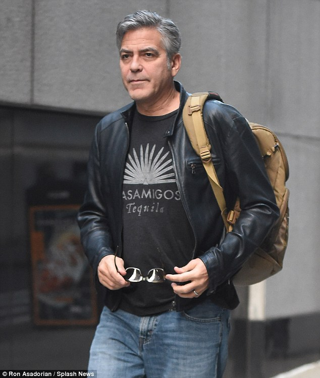 George Clooney on Money Monster Set April 10th & 11th  2015 2774893E00000578-3034978-image-a-36_1428768479326