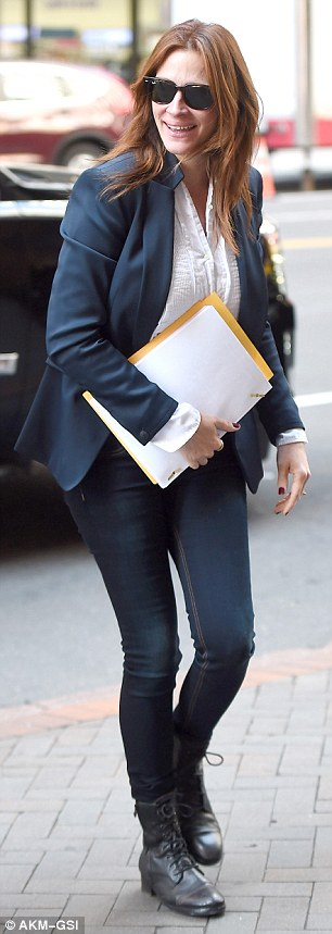 George Clooney on location: Money Monster NYC April 18, 2015 27B40C3800000578-3044926-image-a-65_1429375167680