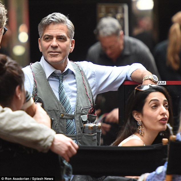George Clooney on location: Money Monster NYC April 18, 2015 27B6710000000578-3044926-image-a-201_1429392238992