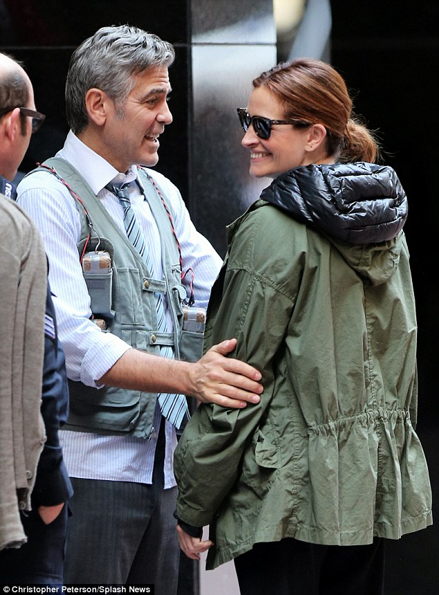 George Clooney on location: Money Monster NYC April 18, 2015 27B9859400000578-3044926-image-a-60_1429429072545