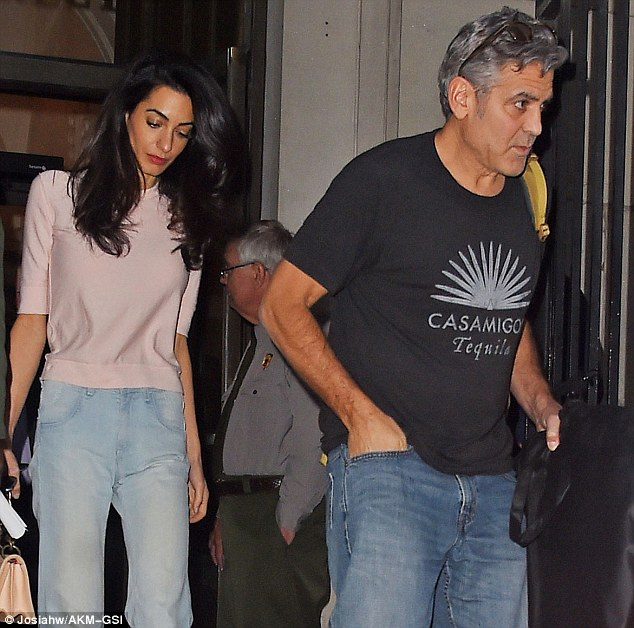 Bring your in-laws to work day! Amal Clooney takes her family to visit George on set of Money Monster  2nd May 2015 284132A400000578-0-Casual_attire_The_Clooneys_were_not_dressed_up_both_wearing_jean-m-71_1430613222967