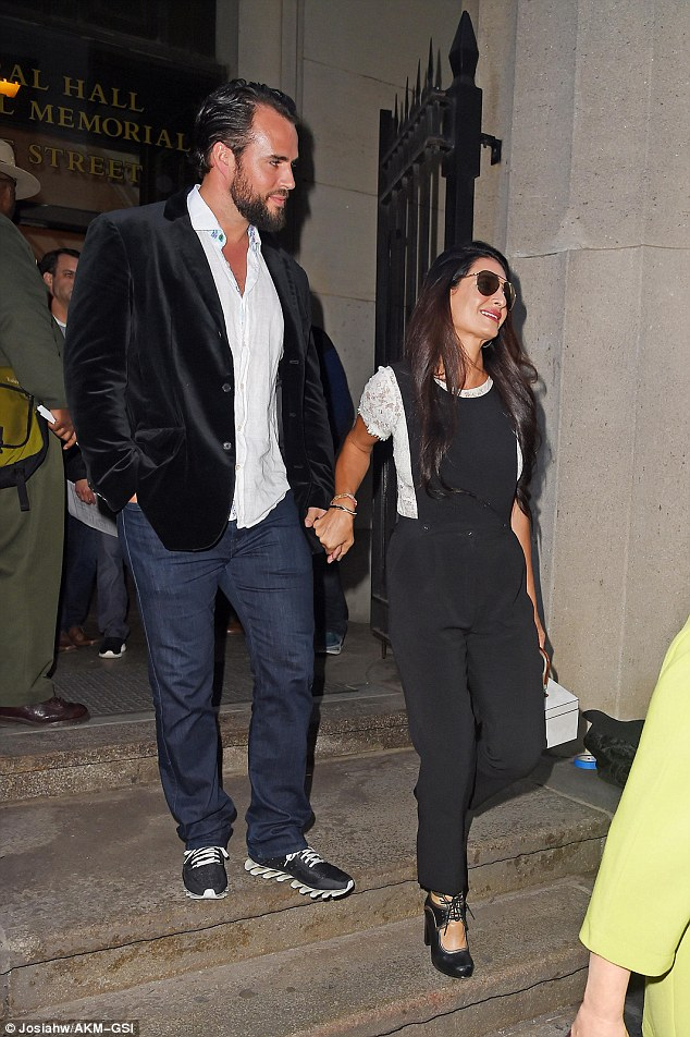 Bring your in-laws to work day! Amal Clooney takes her family to visit George on set of Money Monster  2nd May 2015 2841389300000578-3065799-Fashion_forward_Tala_Alamuddin_right_and_boyfriend_Nico_left_wer-a-15_1430631969550