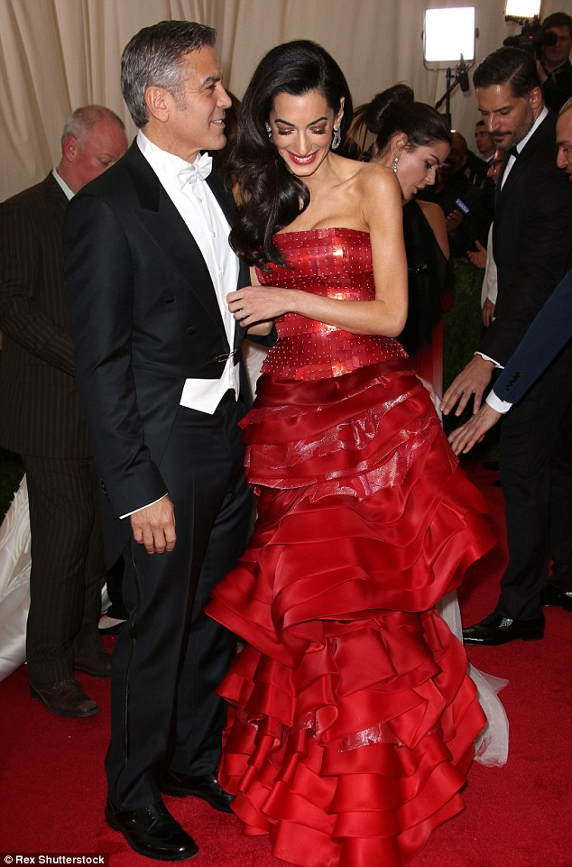 George Clooney at the Met Gala 4th May 2015 - Page 2 28503A6800000578-3068128-All_smiles_The_brunette_beauty-m-89_1430788565205