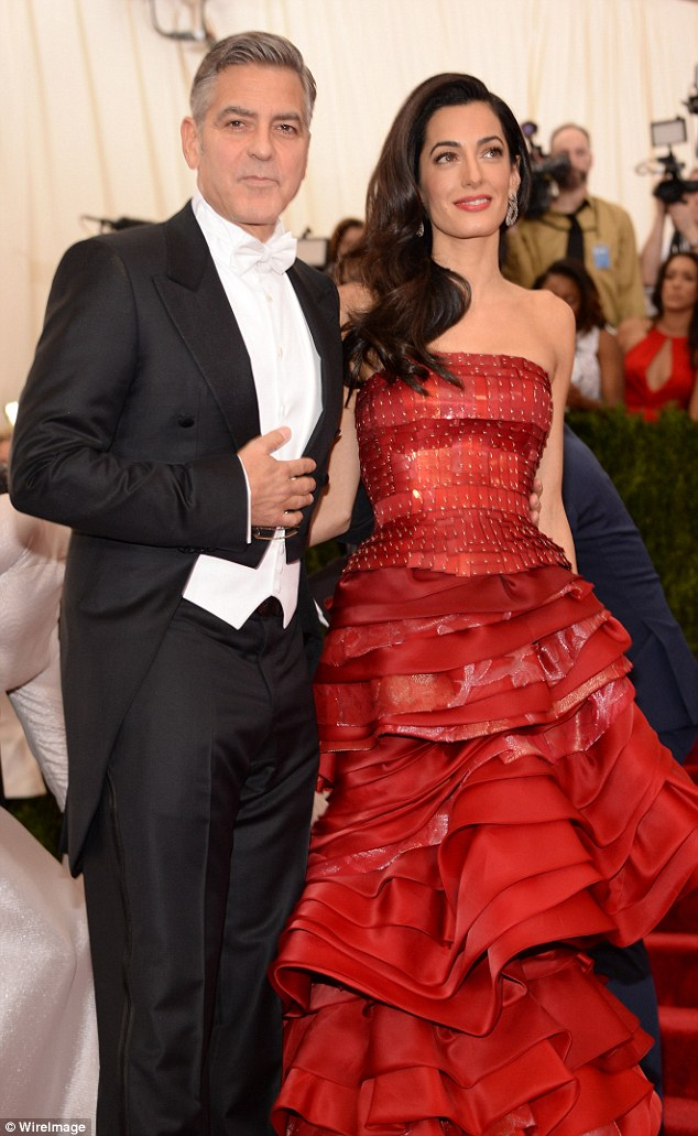 George Clooney at the Met Gala 4th May 2015 - Page 2 2850413F00000578-3068128-image-m-95_1430789009966