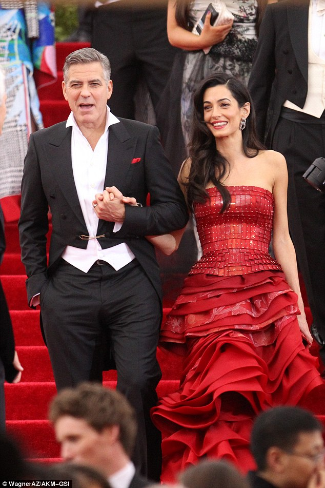 George Clooney at the Met Gala 4th May 2015 - Page 2 2852BFB000000578-3068128-image-a-27_1430803116955