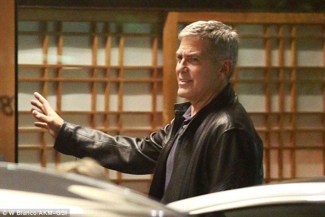 George Clooney dinner with his wife Amal at Japanese restaurant Asanebo in Studio City, California 7th May 2015 28781DFB00000578-0-image-a-60_1431109006581