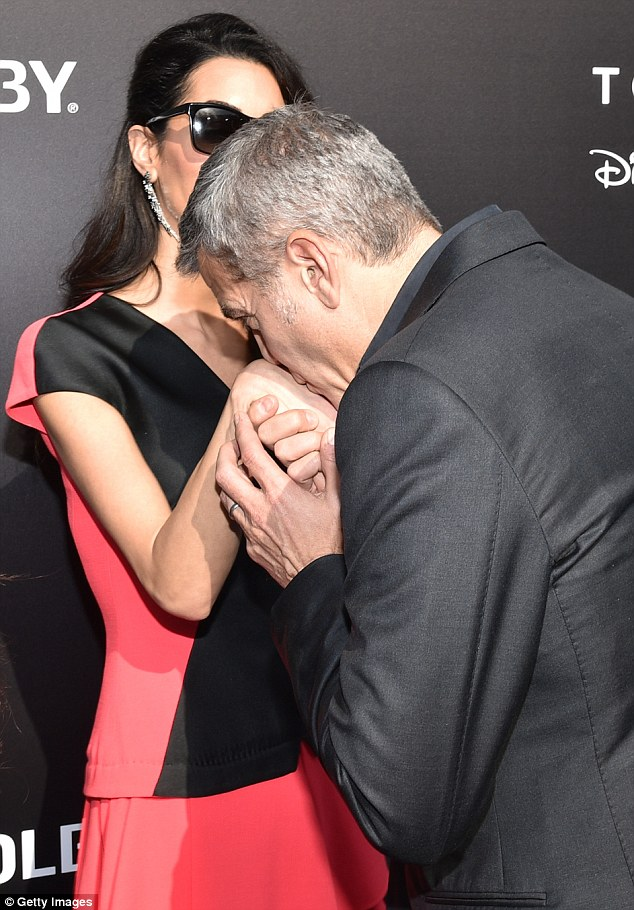 George Clooney at the TOMORROWLAND world premiere in LA Disneyland 9th May 2015 288237ED00000578-0-Career_woman_In_the_meantime_Amal_an_internationally_known_lawye-m-165_1431223900132