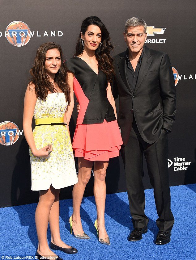 George Clooney at the TOMORROWLAND world premiere in LA Disneyland 9th May 2015 288234E600000578-3075296-image-m-10_1431252220602