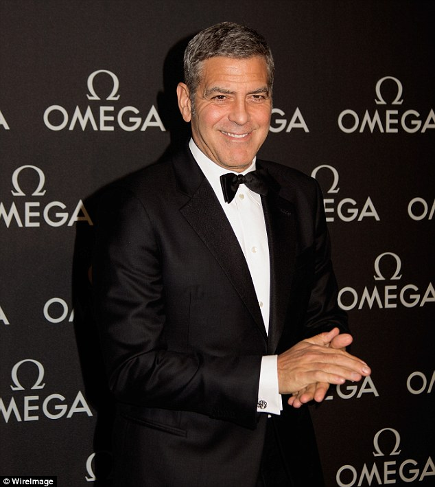 George Clooney  at Omega Event in Texas 289B897700000578-3079291-image-a-28_1431500157085