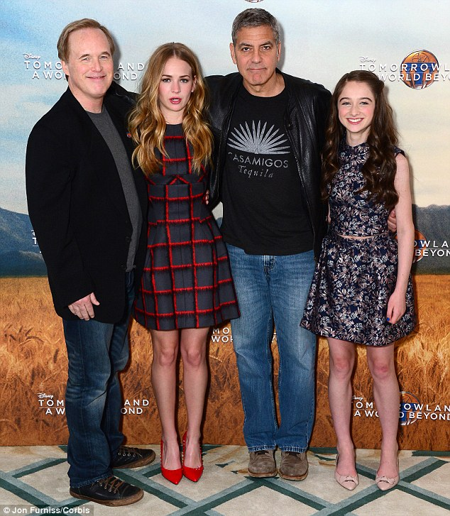This morning's Tomorrowland Press Call in London May 18, 2015 28D2E2A000000578-3086505-image-m-96_1431962325901