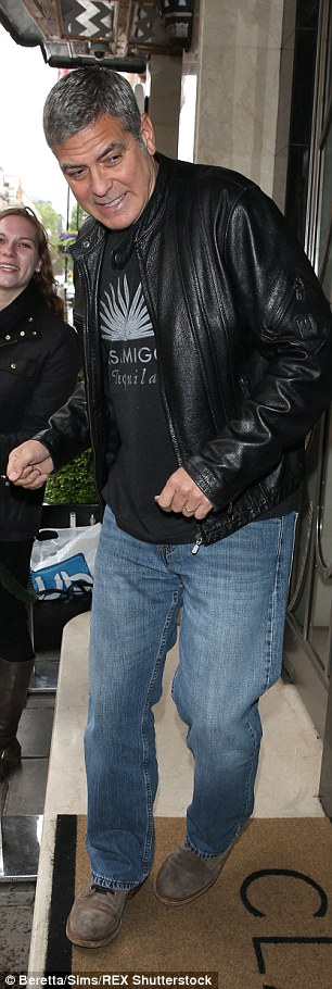 This morning's Tomorrowland Press Call in London May 18, 2015 28D1BB9F00000578-3086056-Smart_guy_He_teamed_it_with_a_cool_leather_jacket_and_blue_jeans-a-4_1431966083142