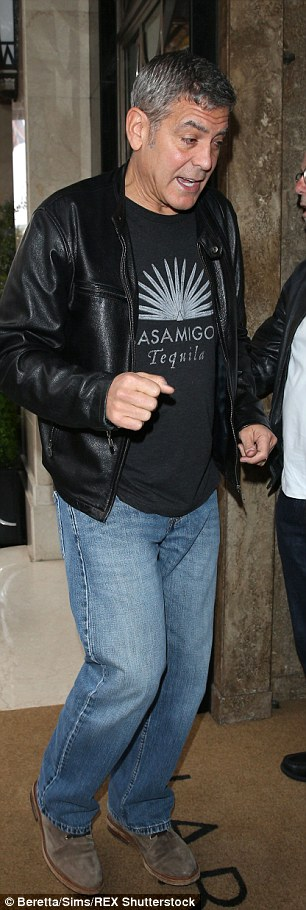 This morning's Tomorrowland Press Call in London May 18, 2015 28D1BBF400000578-3086056-There_it_is_The_actor_was_sporting_the_very_same_tequila_branded-a-6_1431966083693