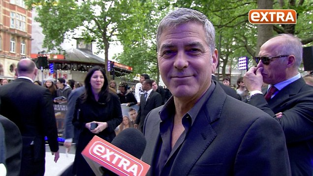 George at Valencia premiere of Tomorrowland May 19,  2015 Video-undefined-28D6D4B100000578-50_636x358