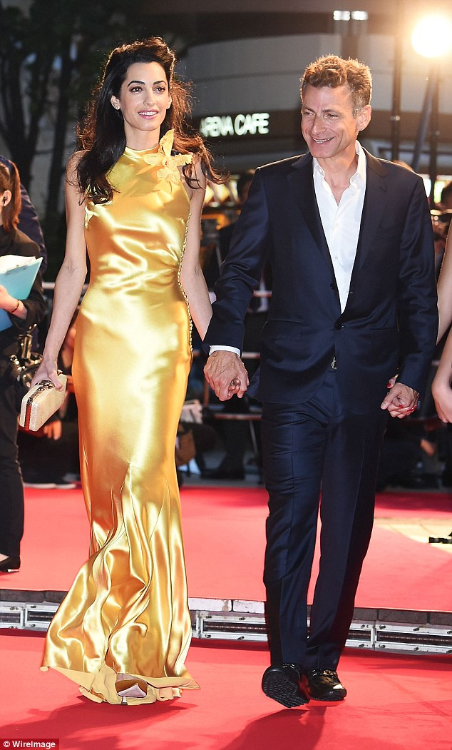 George Clooney at the Tokyo Tomorrowland Premiere 25th May 2015 290ED0E700000578-3096100-image-a-76_1432554891181