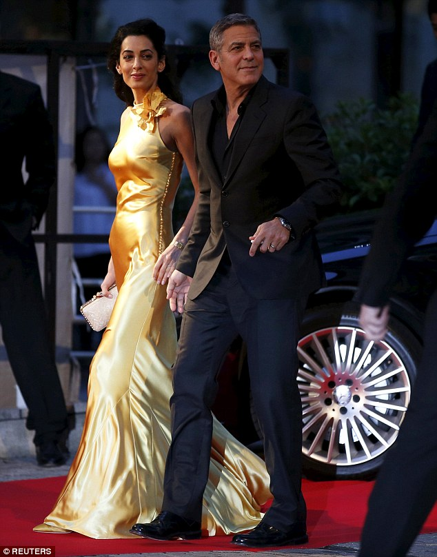 George Clooney at the Tokyo Tomorrowland Premiere 25th May 2015 290ED10F00000578-3096100-image-m-75_1432554840036