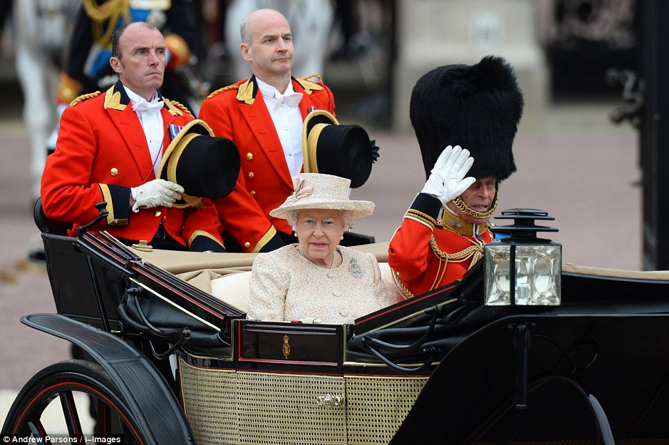 Trooping the Colour 2015. 2995F97B00000578-3122591-image-a-40_1434190281362