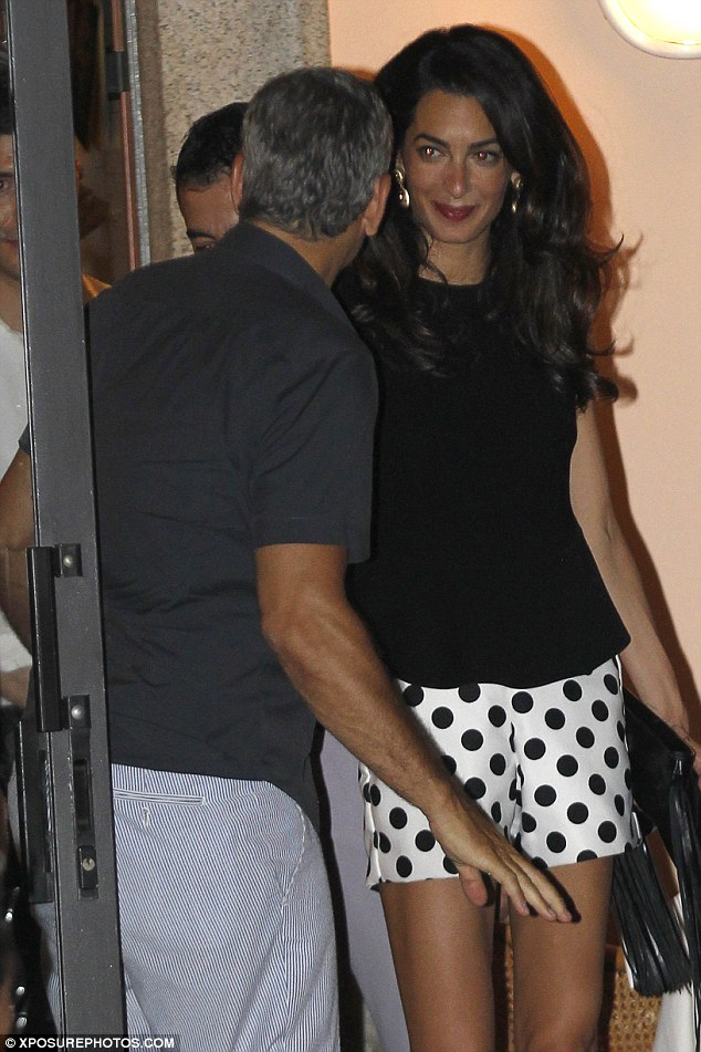 George Clooney has a laughing fit as he steps out for romantic date with his leggy wife Amal in Lake Como - 23. July 2015 2AC3338600000578-3171508-image-a-136_1437610314649