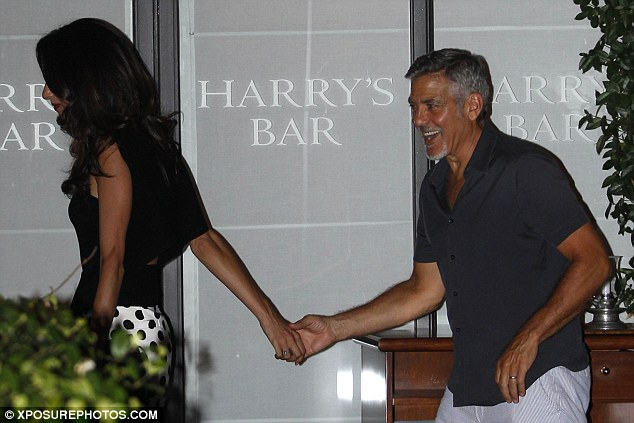 George Clooney has a laughing fit as he steps out for romantic date with his leggy wife Amal in Lake Como - 23. July 2015 2AC3345200000578-3171508-image-a-132_1437610299607
