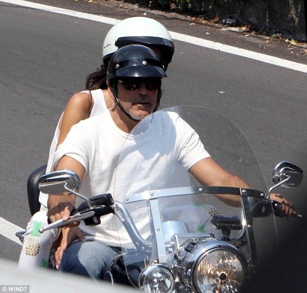 George and Amal on Motorcyle July 28 2015 2AF5808F00000578-3179894-image-a-129_1438255667314