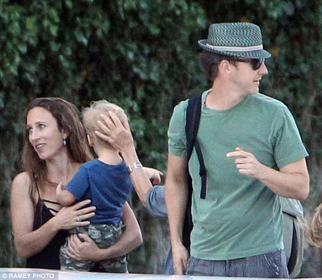 George welcoming Edward Norton and family to  Villa d'Oleandra 2B209A9100000578-3186334-image-a-38_1438803941854