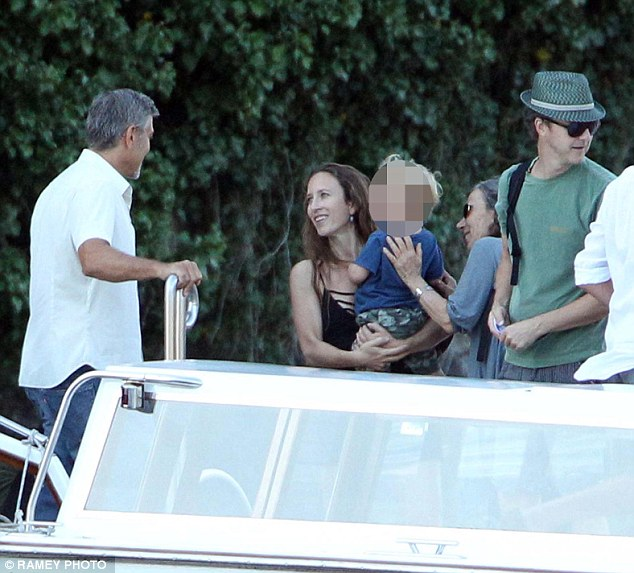 George welcoming Edward Norton and family to  Villa d'Oleandra 2B20F8EE00000578-3186334-image-m-58_1438804771538