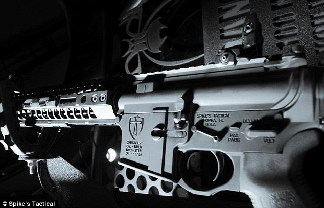 Florida gun makers design assault rifle with Bible verse and cross etched on each side so 'Muslim terrorists won't use it' 2BF332A300000578-3221602-On_the_other_side_is_a_Knights_Templar_Long_Cross_a_symbol_of_th-m-4_1441313276132