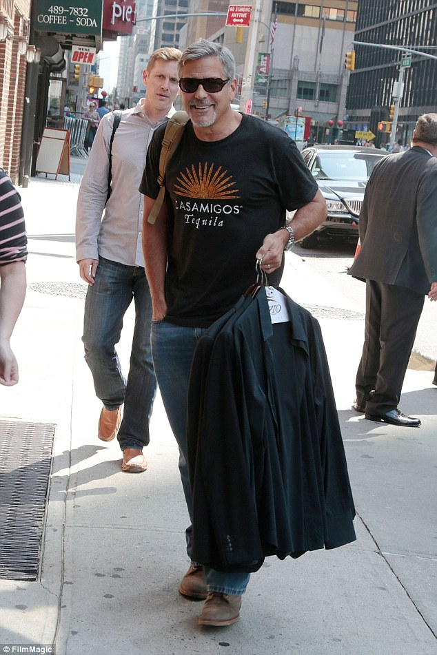George Clooney attends the First Taping of 'The Late Show With Stephen Colbert'  8th September 2015 2C15156E00000578-3226705-image-a-163_1441742479726
