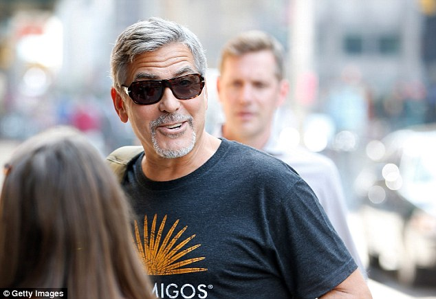 George Clooney attends the First Taping of 'The Late Show With Stephen Colbert'  8th September 2015 2C1525B700000578-3226705-image-m-166_1441742531705
