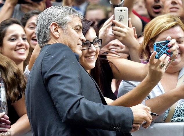 George Clooney at Toronto film festival 11th September 2015 2C33CAF000000578-3231561-image-a-59_1442018245016