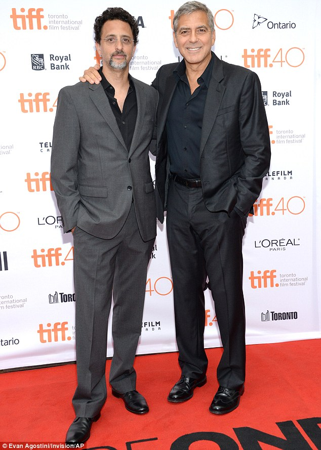 George Clooney at Toronto film festival 11th September 2015 2C3399F400000578-3231561-image-m-87_1442022625455