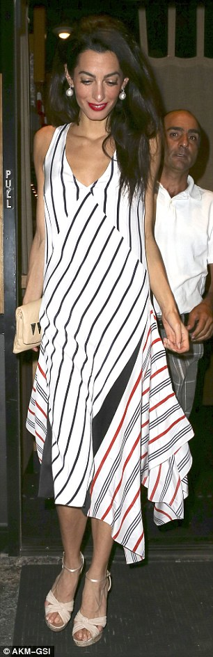 George Clooney & Amal Out For Sushi in Studio City(9-25-15?) 2CC726A500000578-3249938-image-m-66_1443262094468