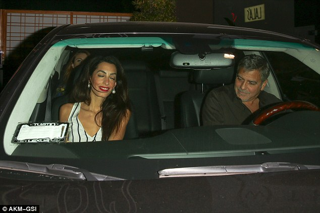 George Clooney & Amal Out For Sushi in Studio City(9-25-15?) 2CC72A1100000578-3249938-image-a-80_1443262174687