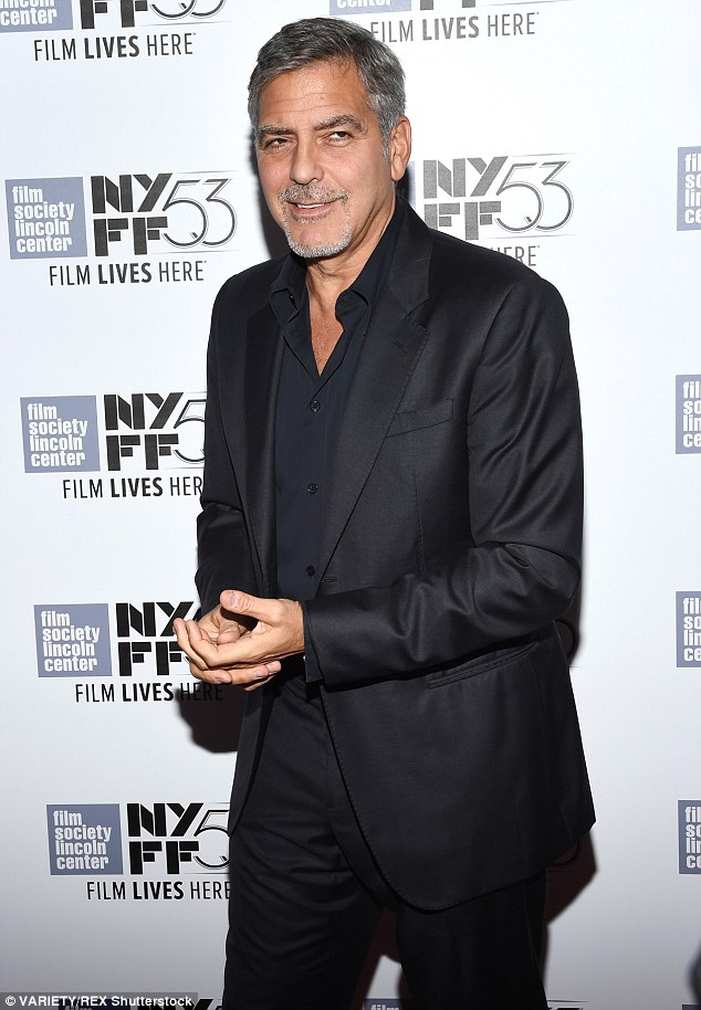 George Clooney at the New York Film Festival anniversary screening of O BROTHER, WHERE ART THOU 29th September 2015 2CEB0EA200000578-0-image-m-113_1443579123168