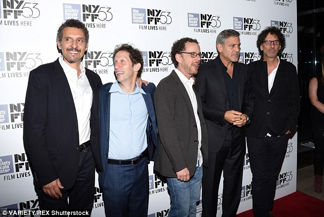 George Clooney at the New York Film Festival anniversary screening of O BROTHER, WHERE ART THOU 29th September 2015 2CEB158800000578-0-image-m-115_1443579165849