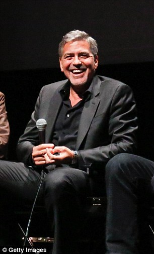 George Clooney at the New York Film Festival anniversary screening of O BROTHER, WHERE ART THOU 29th September 2015 2CEBD5FF00000578-3254345-Good_time_George_Clooney_looked_in_great_spirits_as_he_went_onst-a-14_1443592939694