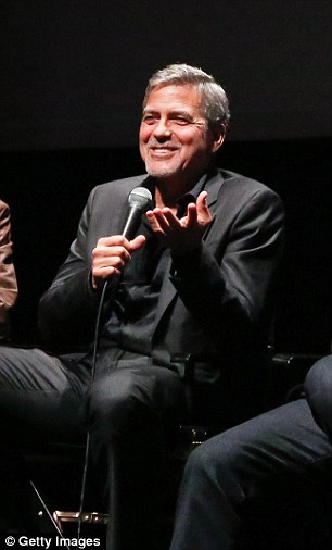 George Clooney at the New York Film Festival anniversary screening of O BROTHER, WHERE ART THOU 29th September 2015 2CEBD80700000578-3254345-image-m-13_1443592926694
