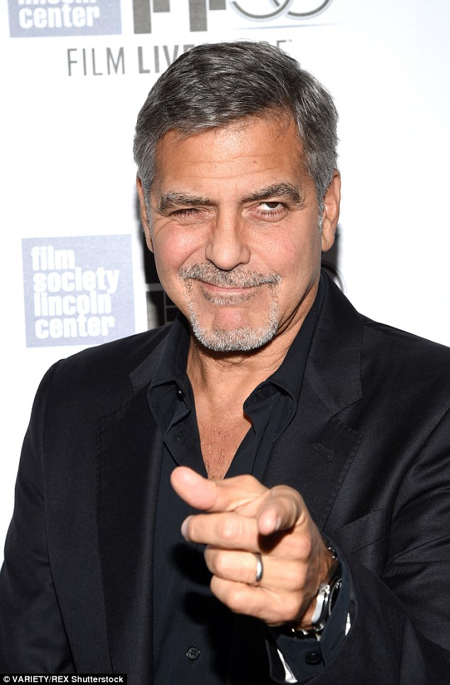 George Clooney at the New York Film Festival anniversary screening of O BROTHER, WHERE ART THOU 29th September 2015 2CEB0E5C00000578-3254345-image-m-22_1443599285671