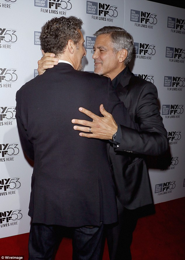 George Clooney at the New York Film Festival anniversary screening of O BROTHER, WHERE ART THOU 29th September 2015 2CEB6C4400000578-3254345-image-a-29_1443599542069