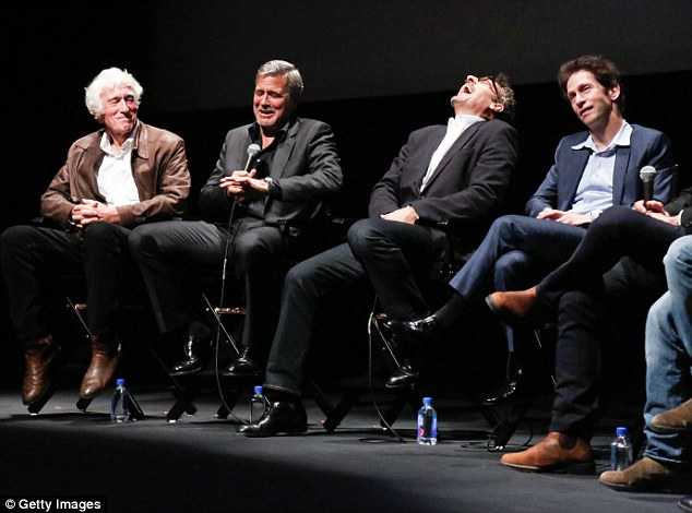 George Clooney at the New York Film Festival anniversary screening of O BROTHER, WHERE ART THOU 29th September 2015 2CEBD4B900000578-3254345-Motley_crew_Clooney_and_his_co_stars_were_in_hysterics_as_they_t-a-18_1443599172881