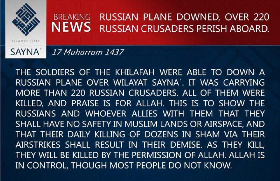 Russisches Passagierflugzeug über Ägypten abgestürzt 2DFB9A5F00000578-3297871-image-m-78_1446311731624