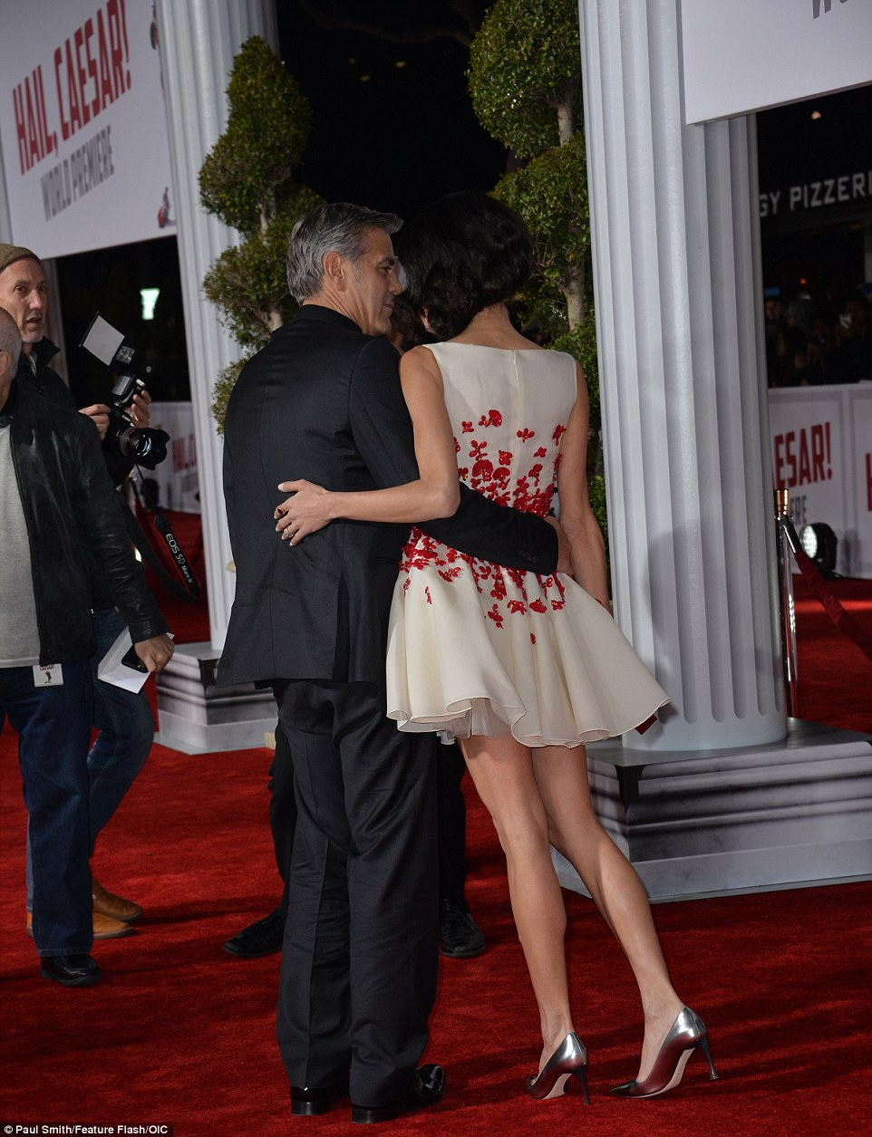 George Clooney and Amal Clooney at the Hail Caesar Premiere LA 30CBA8B100000578-3427580-image-a-92_1454386640674
