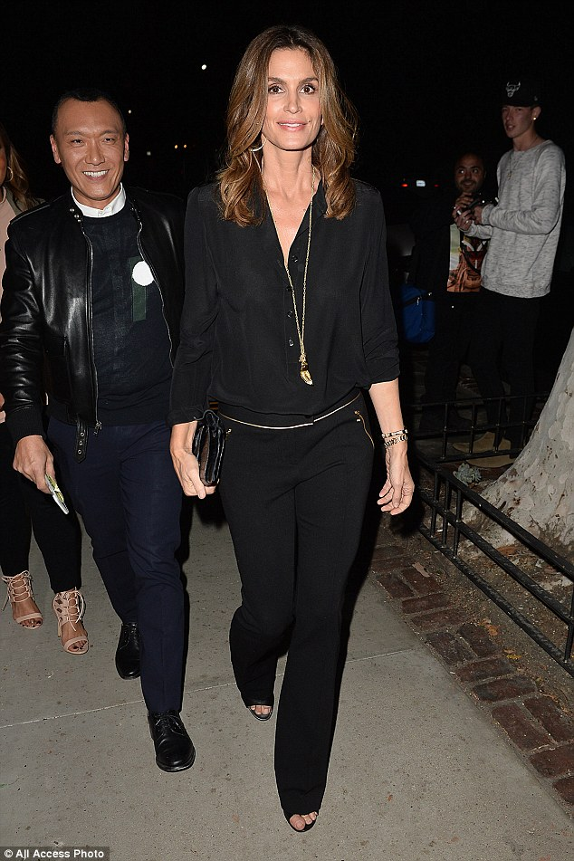 George Clooney spotted at the Tower Bar in LA to celebrate Amal's birthday 30E6724A00000578-3436192-image-a-41_1454876853659