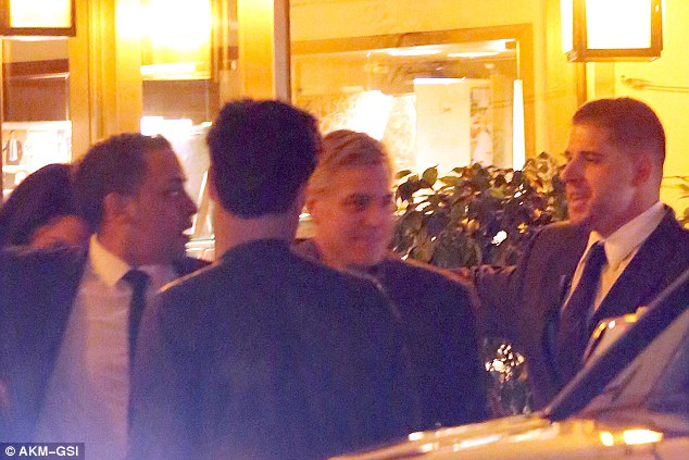 George Clooney spotted at the Tower Bar in LA to celebrate Amal's birthday 30FB4CCF00000578-3436716-image-a-1_1454913237940