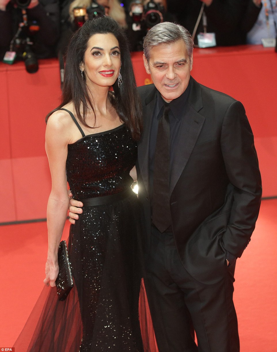 George Clooney and Amal on the red carpet for Hail Caesar Berlin Film Fest premiere 3119EE5800000578-0-image-a-47_1455216970019